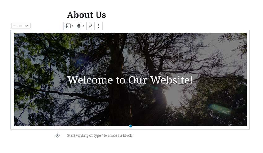 Tạo một khối nhắm mục tiêu rộng rãi trong WordPress.
