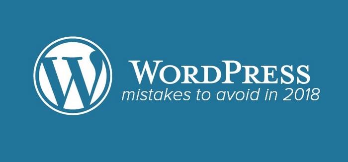 Errores de WordPress que deben evitarse en 2018