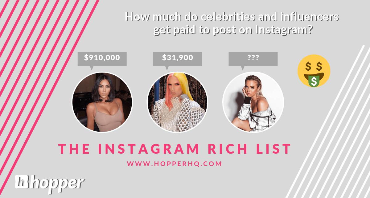Rikas luettelo Instagram 2019: kuka voittaa enemmän #Sponin ansiosta?