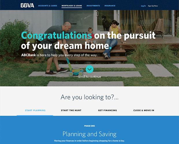 Inicio para un producto hipotecario