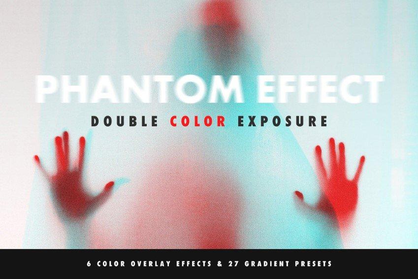 Acción de Photoshop con efecto de exposición de doble color