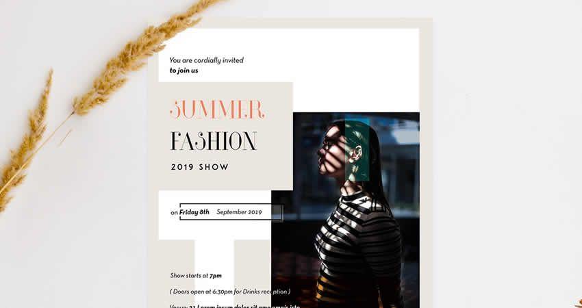 Mẫu thời trang tối thiểu Photoshop PSD Flyer