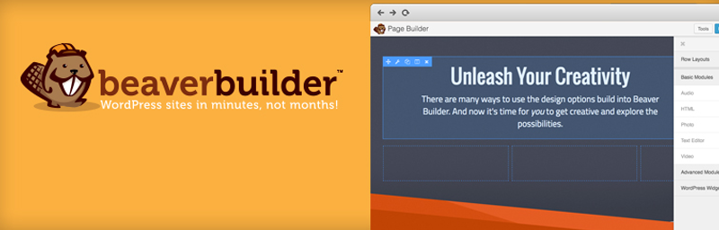Beaverbuilder es el tercer generador de páginas más popular para WordPress