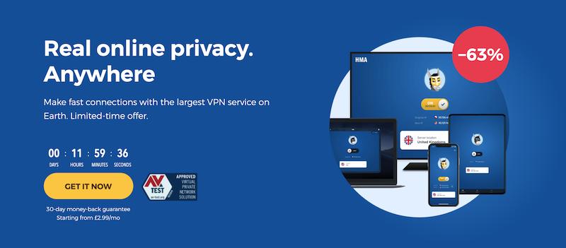 HideMyAss es actualmente la VPN más vendida