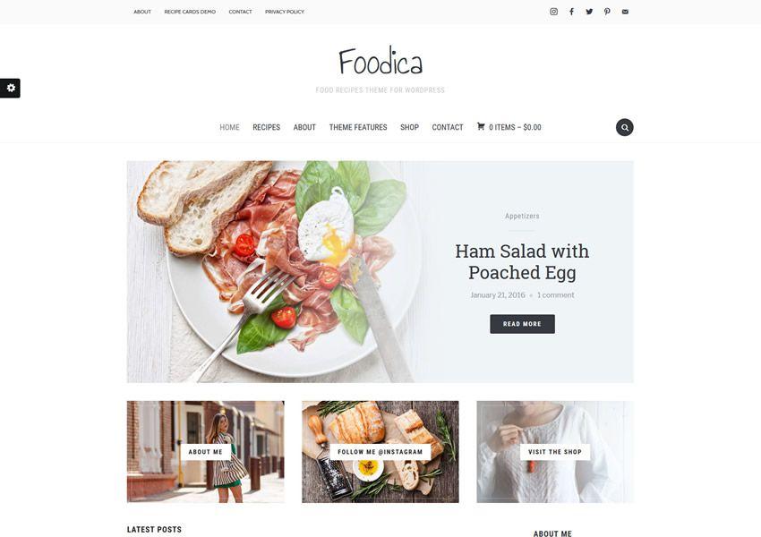 Foodica Lite miễn phí chủ đề wordpress wp đáp ứng thực phẩm nhà hàng ẩm thực lối sống ẩm thực