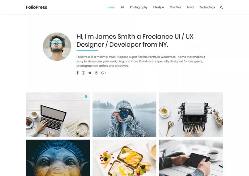 Miễn phí folioPress wordpress theme wp responsive camera thiết kế cơ quan sáng tạo danh mục đầu tư