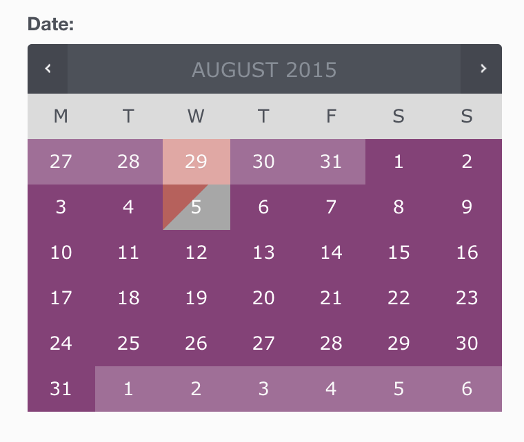 calendario de disponibilidad de reservas de woocommerce