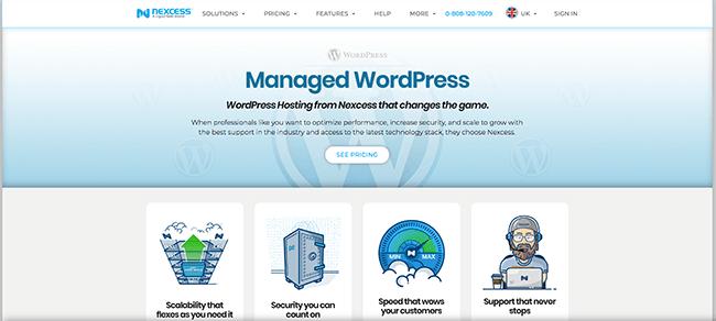 Alojamiento de WordPress administrado por Nexcess