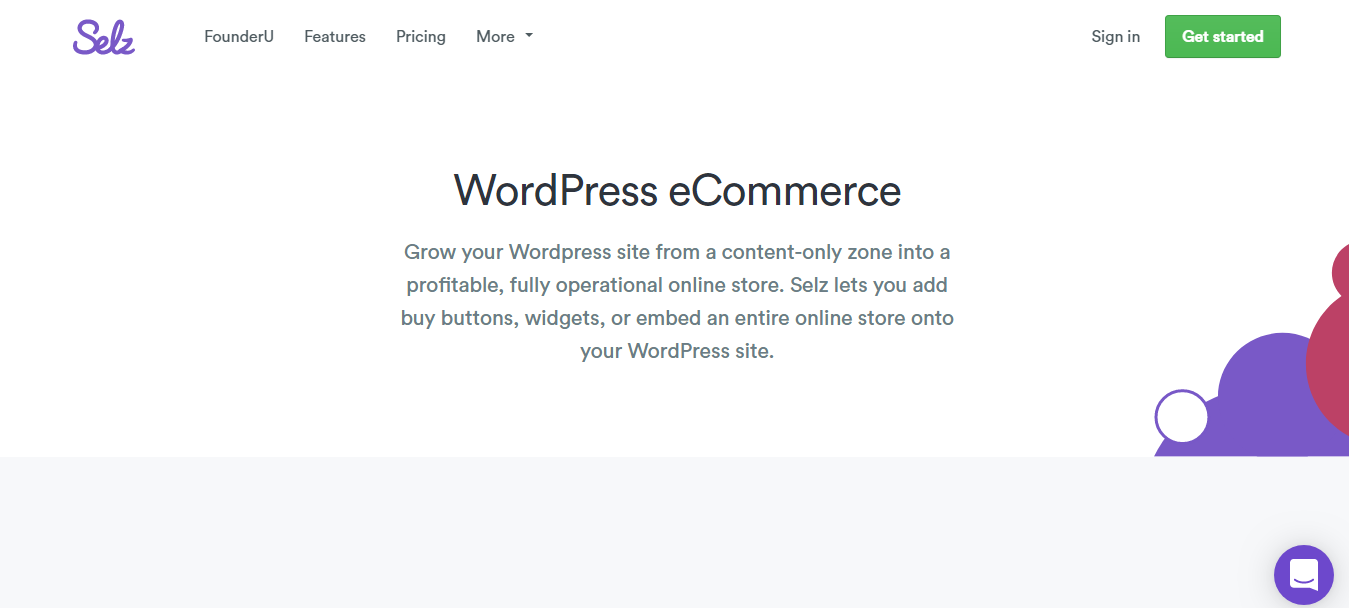 selz wordpress ecommerce