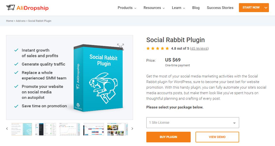 králik wordpress sociálne plugin