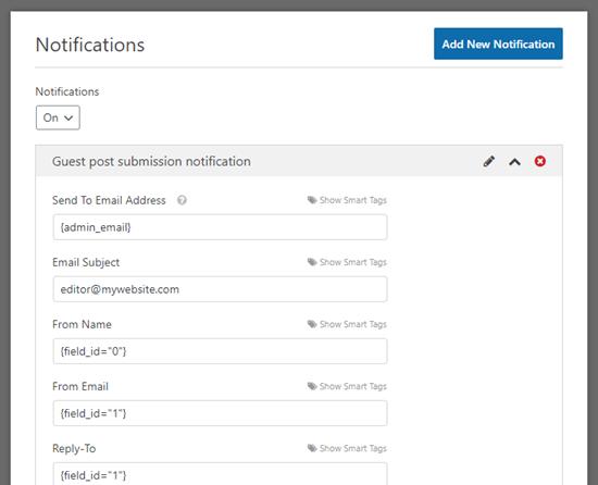 Luo vieras sähköpostiviesti WPForms-sovellukseen