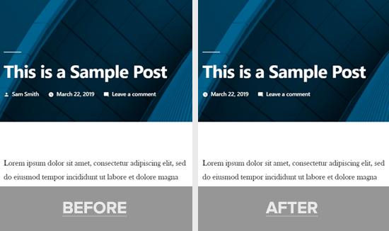 El nombre del autor se eliminó de la demo de publicación de WordPress