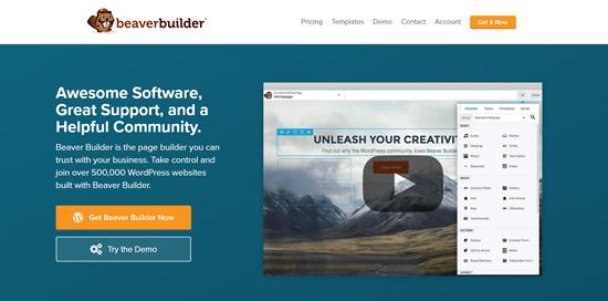 Beaver Builder, den bästa WordPress-sidgenerator-plugin