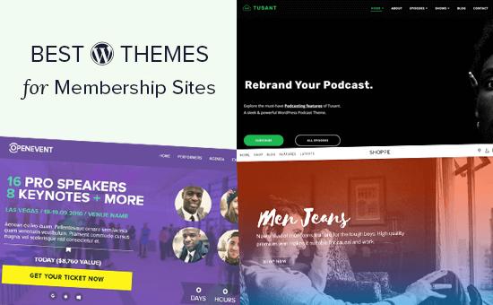 Los mejores temas de WordPress para sitios de membresía