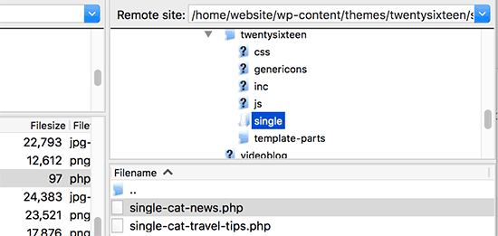 Crear una plantilla de publicación única para categorías