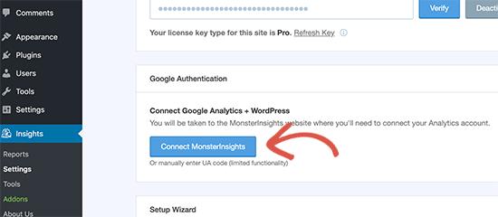 MonsterInsights-ı Google Analytics-ə qoşun