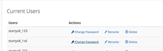 Thay đổi mật khẩu cho người dùng cơ sở dữ liệu
