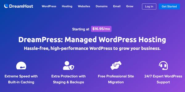 dreampress idarə wordpress hosting