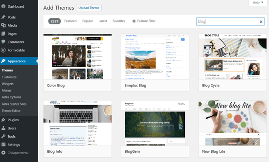 Temas de blog gratuitos de WordPress