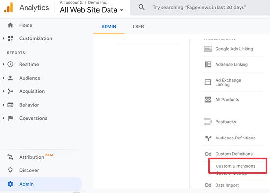 Google Analytics xüsusi ölçüləri