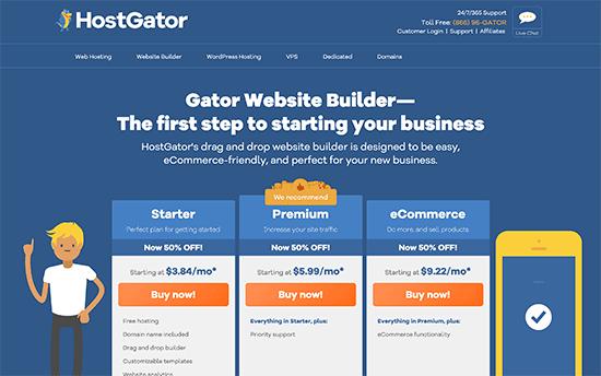 Constructor del sitio Gator
