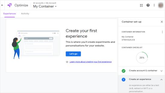 Sağdakı addım-addım təlimatları ilə Google Optimizate hesabınızı