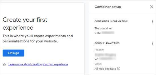 Google Optimize konteyner nömrənizi tapın