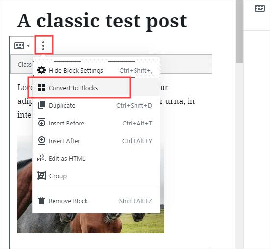 Fərdi yazını yeni blok formatına çevirin