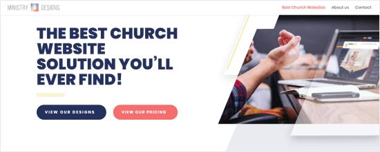 El ministerio diseña al creador del sitio web de la iglesia.