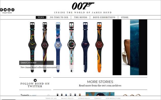 El sitio web oficial de James Bond