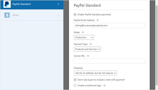Formanız üçün PayPal ödəmə imkanı səhifəsi