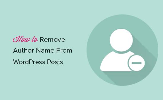 Ta bort författarnamn från WordPress-inlägg