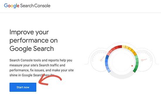 Inicie Google Search Console