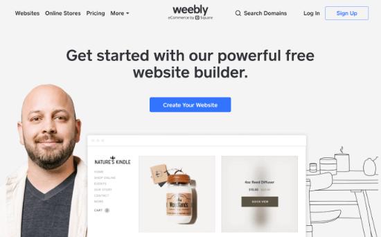 Creador de sitios web Weebly