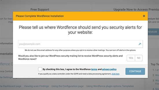 Wordfence parametrləri