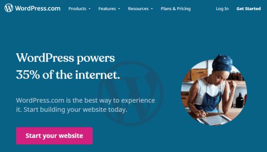 Creador de sitios web de WordPress.com