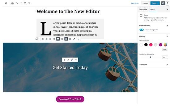 Editor predeterminado de WordPress