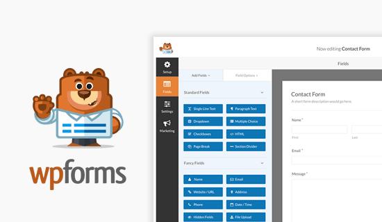 WPForms WordPress üçün ən yaxşı əlaqə forması pluginidir