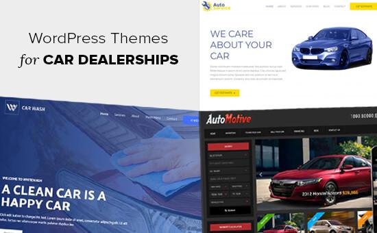 Temas de WordPress para concesionarios de automóviles