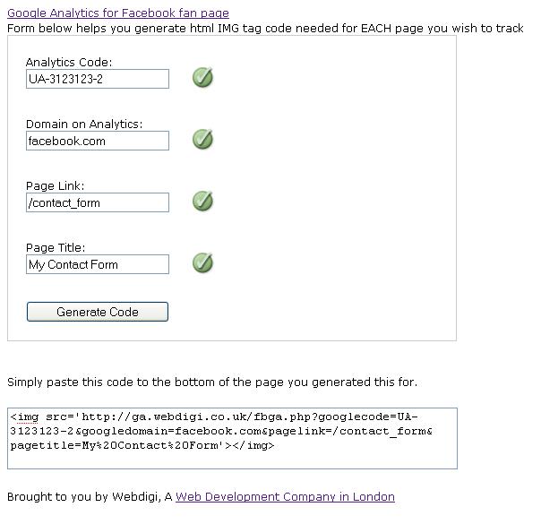 Cách thêm Google Analytics vào của bạn Facebook Trang fan hâm mộ 1