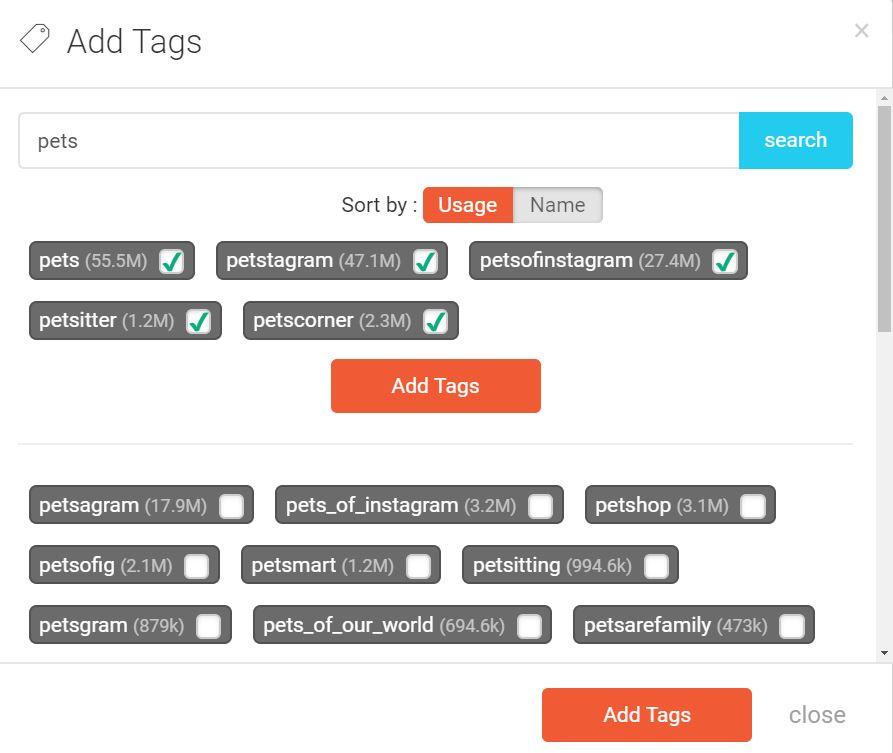 herramienta de investigación de hashtags