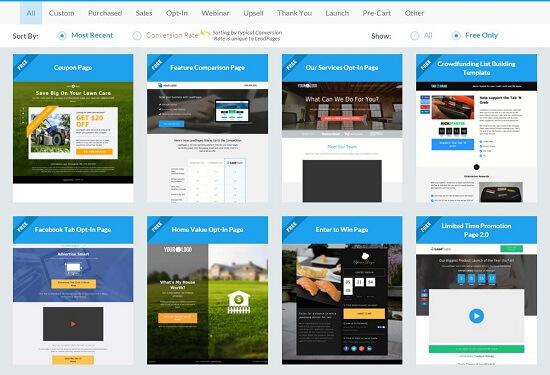 Ver páginas principales de diseño