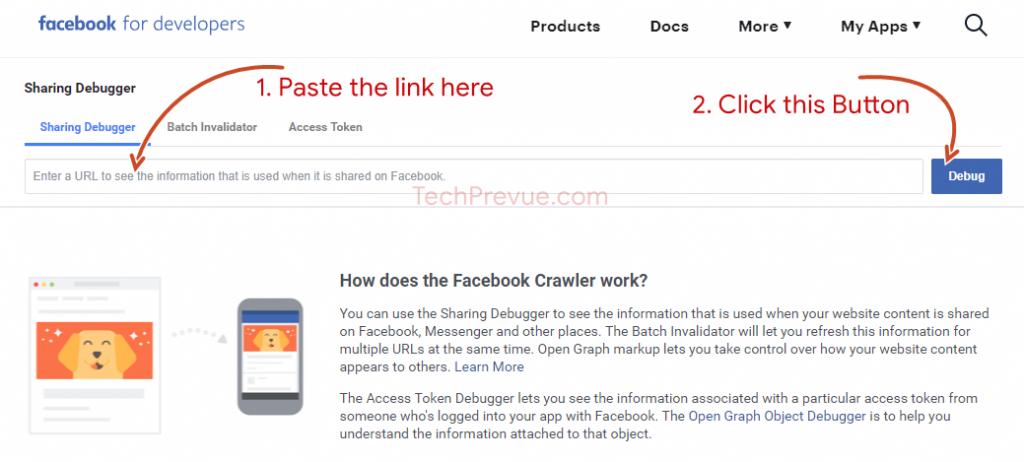 Facebook  Compartiendo depurador