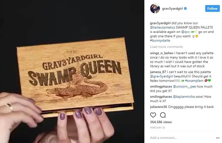 Publicación de Instagram de Bunny Meyer: dinero en las redes sociales