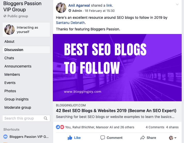 bloggers pasión grupo fb