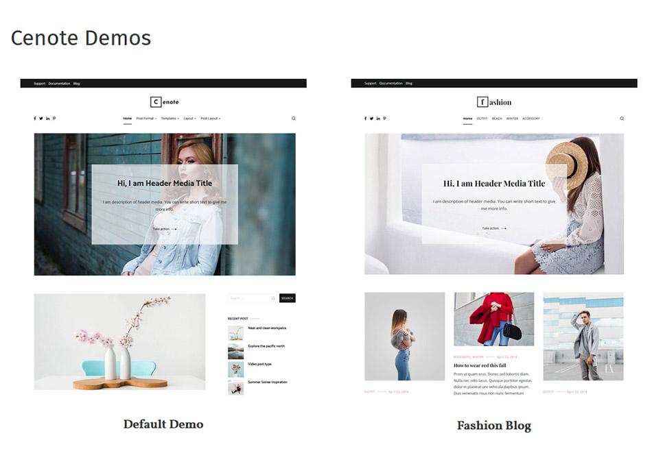 """Cenote-free-demos """"width ="""" 950 """"height ="""" 658 """"srcset ="""" https://blogging-techies.com/wp-content/uploads/2020/04/1586037548_72_El-mejor-tema-de-blog-de-WordPress-GRATIS-para-tu.jpg 950w, https: //themegrill.com/blog/wp-content/uploads/2018/05/Cenote-free-demos-300x208.jpg 300w, https://themegrill.com/blog/wp-content/uploads/2018/05/Cenote -free-demos-768x532.jpg 768w """"tamaños ="""" (ancho máximo: 950px) 100vw, 950px """"></p> <h2>Características principales del tema.</h2> <h3>Diseño de mampostería</h3> <p>Cenote te permite mostrar tus publicaciones y blogs en un <strong>Disposición de mampostería</strong>. Un diseño de mampostería le permite mostrar publicaciones, imágenes, blogs y contenido relacionado en una cuadrícula donde la altura de las columnas no está definida.</p> <p>Esto le permite mezclar contenido de varios tamaños en una cuadrícula sin tener espacios de desperdicio. El diseño de mampostería puede ser bastante útil si tiene la intención de crear blogs de fotografía o blogs con una gran cantidad de contenido de imágenes. Pinterest es uno de los sitios web más notables con un diseño de mampostería.</p> <p><img class="""