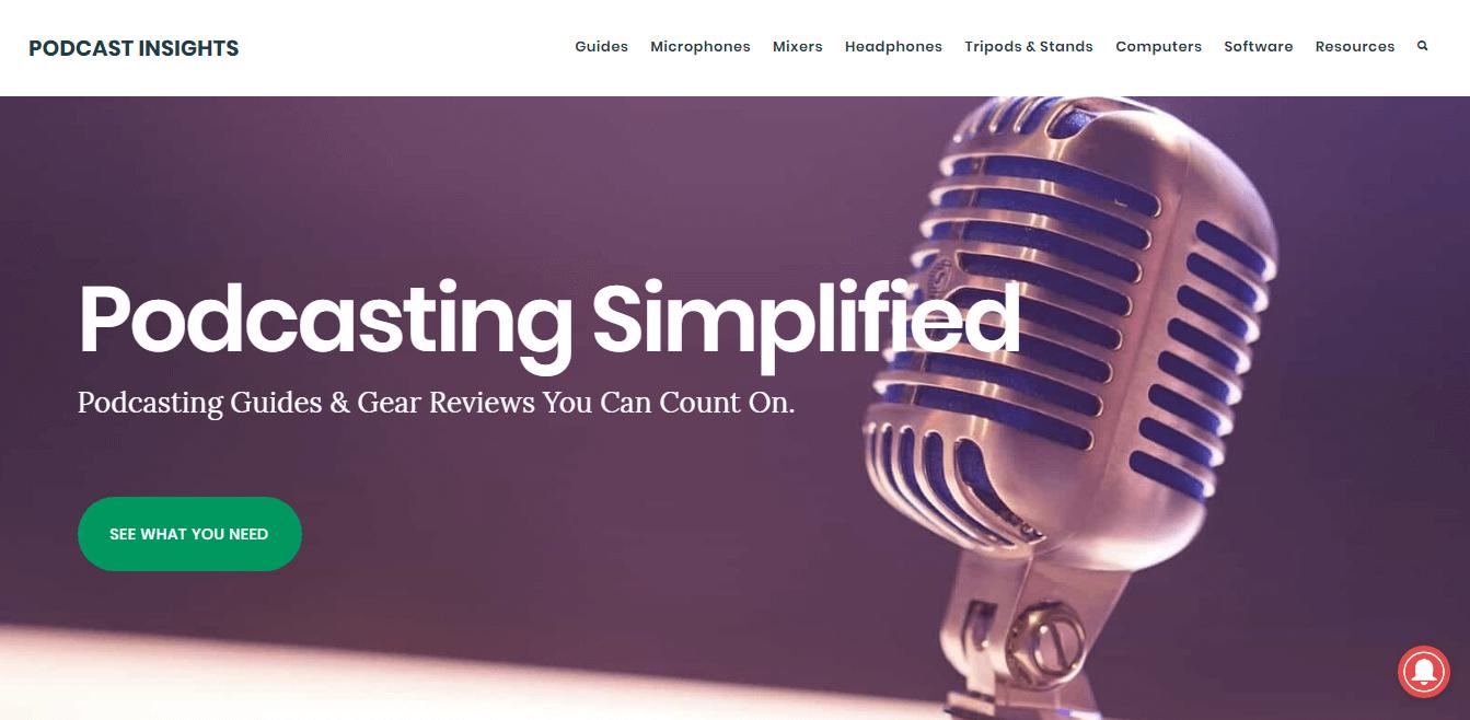 Podcast Insights utiliza OptinMonster