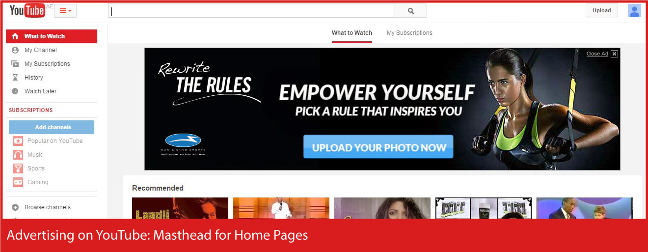 Advertising-on-YouTube - Masthead-for-Home-Pages