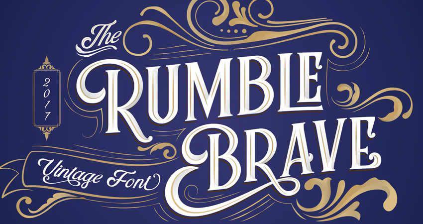 Rumble Brave Vintage Schriftarten