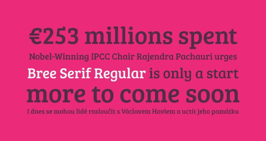 Bree serif free serif font font